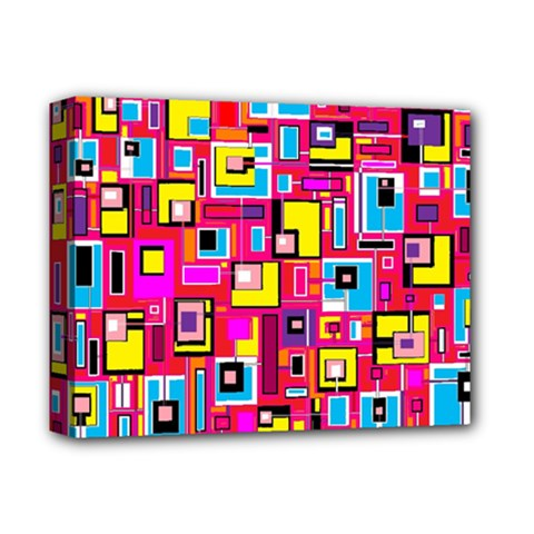 File Digital Disc Red Yellow Rainbow Deluxe Canvas 14  x 11