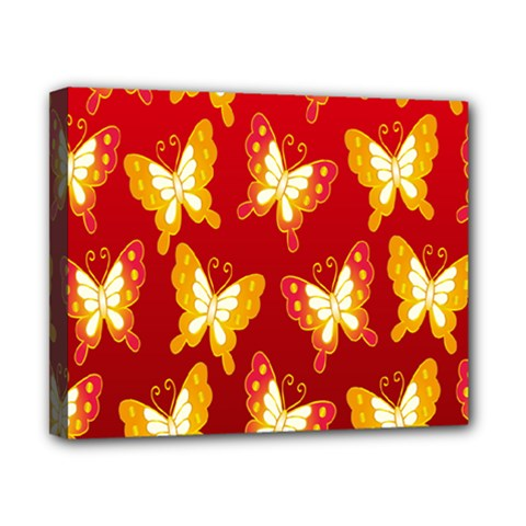 Butterfly Gold Red Yellow Animals Fly Canvas 10  x 8
