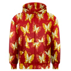 Butterfly Gold Red Yellow Animals Fly Men s Zipper Hoodie