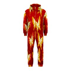 Butterfly Gold Red Yellow Animals Fly Hooded Jumpsuit (Kids)