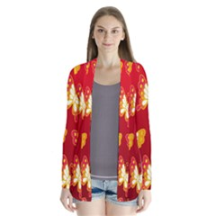 Butterfly Gold Red Yellow Animals Fly Cardigans