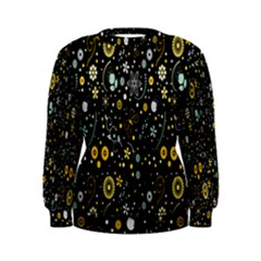Floral And Butterfly Black Spring Women s Sweatshirt