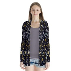 Floral And Butterfly Black Spring Cardigans