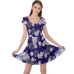 Butterfly Iron Chains Blue Purple Animals White Fly Floral Flower Cap Sleeve Dresses