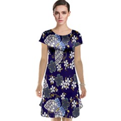 Butterfly Iron Chains Blue Purple Animals White Fly Floral Flower Cap Sleeve Nightdress