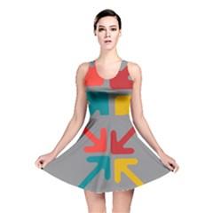 Arrows Center Inside Middle Reversible Skater Dress