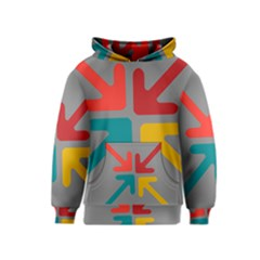 Arrows Center Inside Middle Kids  Pullover Hoodie