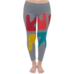 Arrows Center Inside Middle Classic Winter Leggings