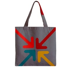 Arrows Center Inside Middle Zipper Grocery Tote Bag