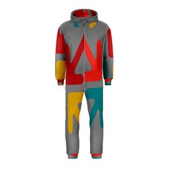 Arrows Center Inside Middle Hooded Jumpsuit (kids)