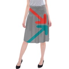 Arrows Center Inside Middle Midi Beach Skirt