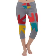 Arrows Center Inside Middle Capri Yoga Leggings