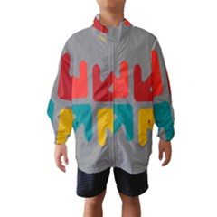 Arrows Center Inside Middle Wind Breaker (kids)