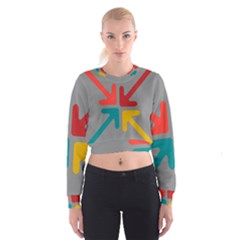 Arrows Center Inside Middle Women s Cropped Sweatshirt