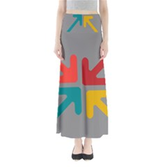 Arrows Center Inside Middle Maxi Skirts