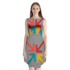 Arrows Center Inside Middle Sleeveless Chiffon Dress