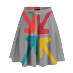 Arrows Center Inside Middle High Waist Skirt