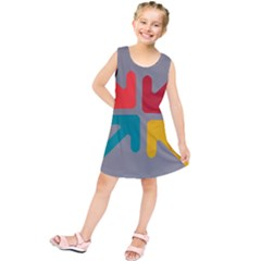 Arrows Center Inside Middle Kids  Tunic Dress