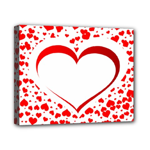 Love Red Hearth Canvas 10  x 8