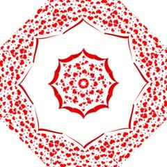 Love Red Hearth Straight Umbrellas
