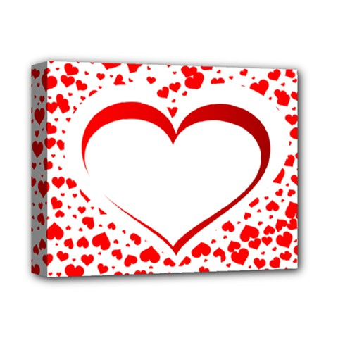 Love Red Hearth Deluxe Canvas 14  X 11