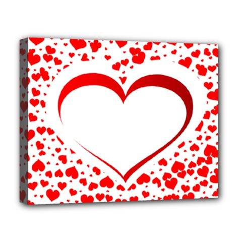 Love Red Hearth Deluxe Canvas 20  X 16