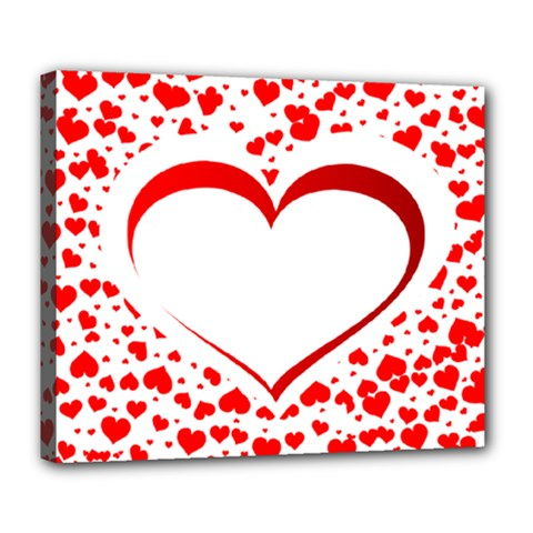 Love Red Hearth Deluxe Canvas 24  X 20
