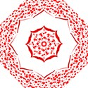 Love Red Hearth Hook Handle Umbrellas (Large) View1