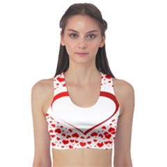 Love Red Hearth Sports Bra