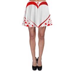 Love Red Hearth Skater Skirt