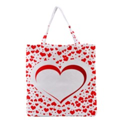 Love Red Hearth Grocery Tote Bag