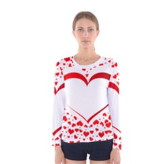 Love Red Hearth Women s Long Sleeve Tee