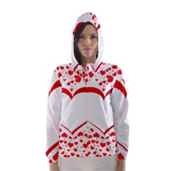Love Red Hearth Hooded Wind Breaker (women)