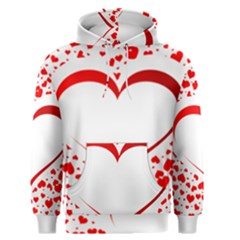 Love Red Hearth Men s Pullover Hoodie