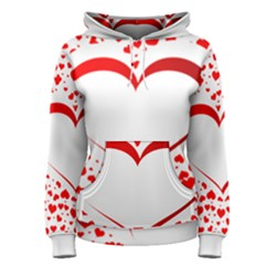 Love Red Hearth Women s Pullover Hoodie