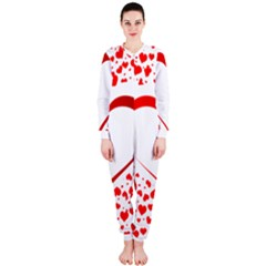 Love Red Hearth OnePiece Jumpsuit (Ladies)