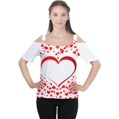 Love Red Hearth Women s Cutout Shoulder Tee
