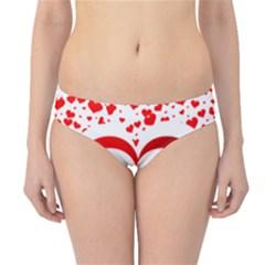 Love Red Hearth Hipster Bikini Bottoms