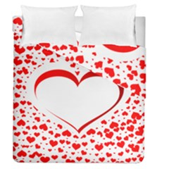 Love Red Hearth Duvet Cover Double Side (queen Size)