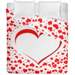 Love Red Hearth Duvet Cover Double Side (california King Size)