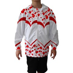 Love Red Hearth Hooded Wind Breaker (kids)