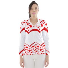 Love Red Hearth Wind Breaker (women)
