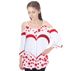 Love Red Hearth Flutter Tees
