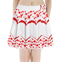 Love Red Hearth Pleated Mini Skirt