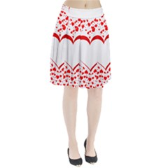 Love Red Hearth Pleated Skirt