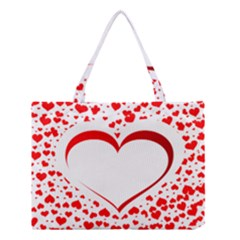 Love Red Hearth Medium Tote Bag