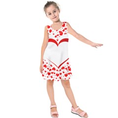 Love Red Hearth Kids  Sleeveless Dress