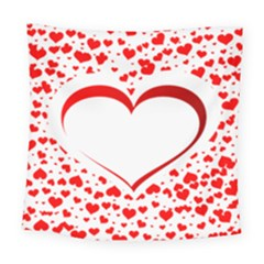 Love Red Hearth Square Tapestry (large)