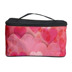 Hearts Pink Background Cosmetic Storage Case