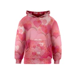 Hearts Pink Background Kids  Pullover Hoodie